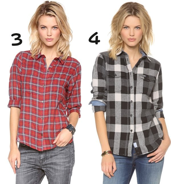 Myne Long Sleeve Boyfriend Button Up and Penfield Chatham Plaid Button Down
