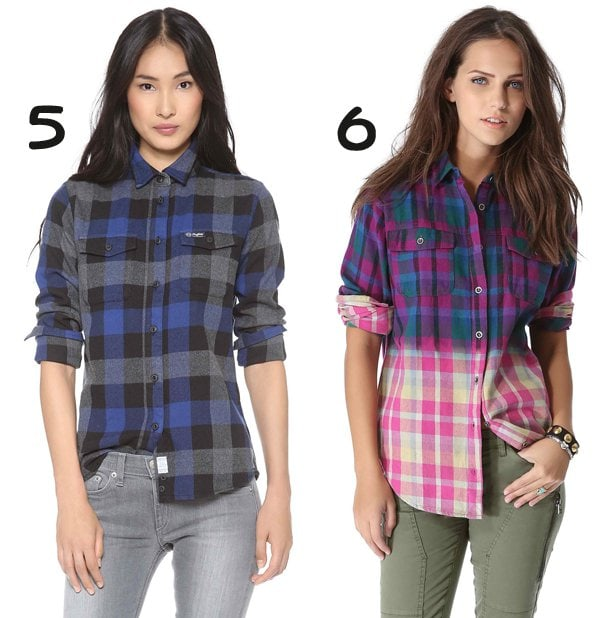 Penfield Chatham Plaid Button Down in Blue and MINKPINK Empire Records Shirt