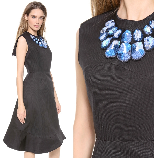 Bell Shaped Dress with Uneven Hem