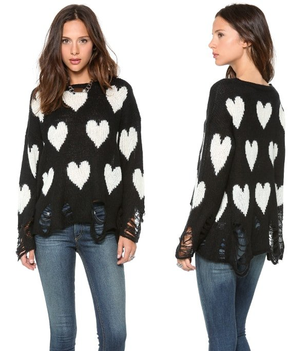 All Over Love Loose Knit Sweater