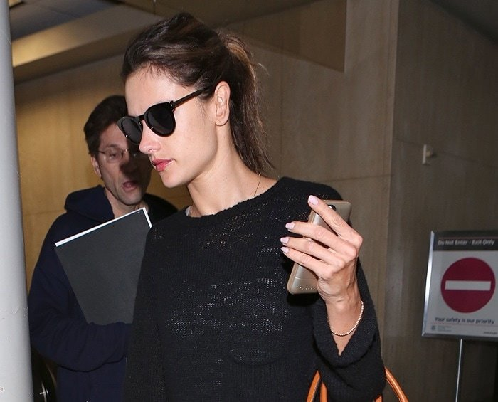 Alessandra Ambrosio at Los Angeles International Airport (LAX)