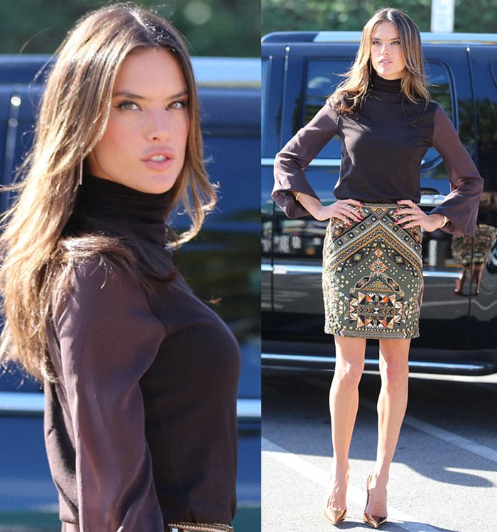 Alessandra Ambrosio highlights her incredibly long legs