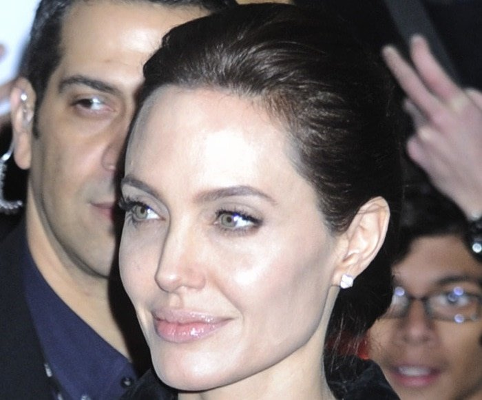 Angelina Jolie attending the Unbroken panel discussion at MoMA in New York City on December 2, 2014