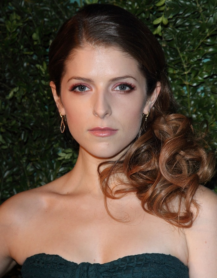 Anna Kendrick at the 60th London Evening Standard Theatre Awards held at the London Palladium in London, England, on November 30, 2014