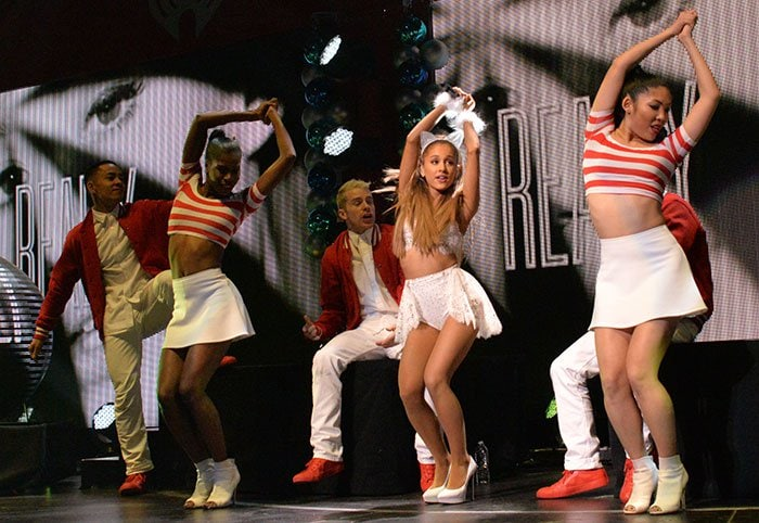 Ariana Grande gave another show-stopping performance at Q102's Jingle Ball