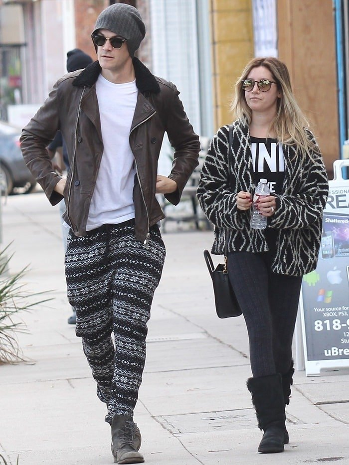 Ashley Tisdale and husband, Christopher French out and about together in Studio City on December 14, 2014