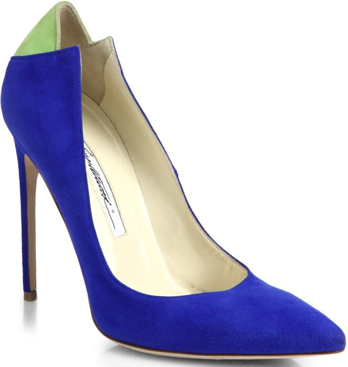 Brian Atwood Blue Mercury Suede Pumps