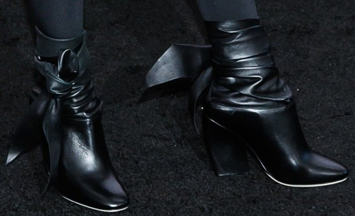 Cameron Diaz rocks ugly Dior ankle-tie boots