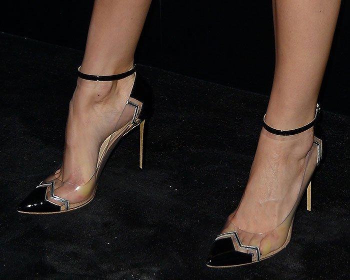 Camilla Belle showed off her feet inNicholas Kirkwood Mirage pumps