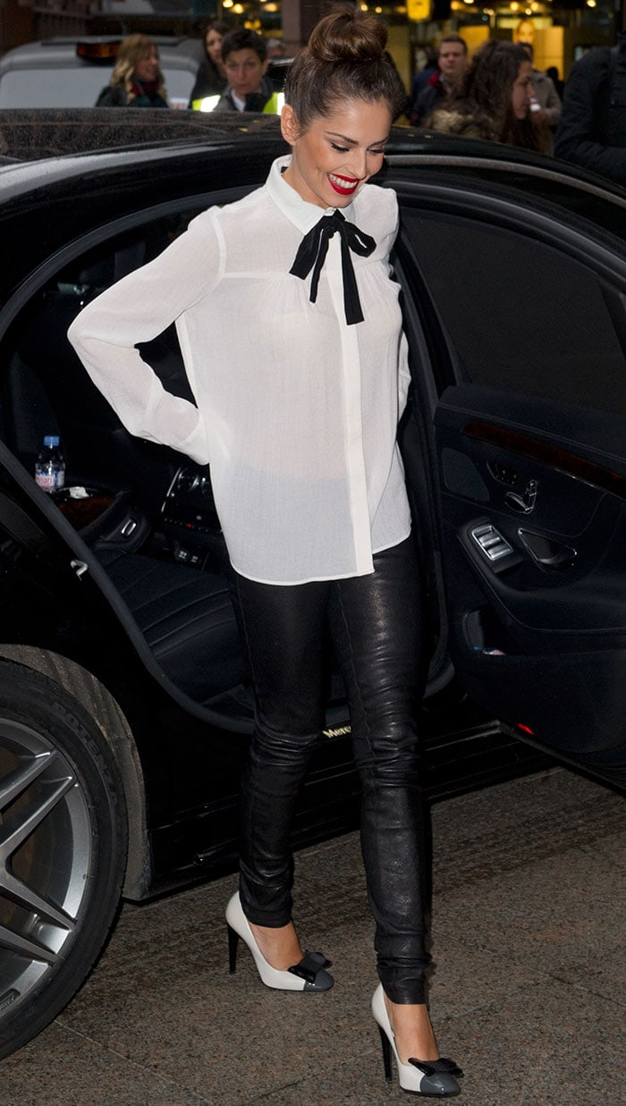 Cheryl Fernandez-Versini at the ICAP Charity Trading Day in London, England, on December 3, 2014