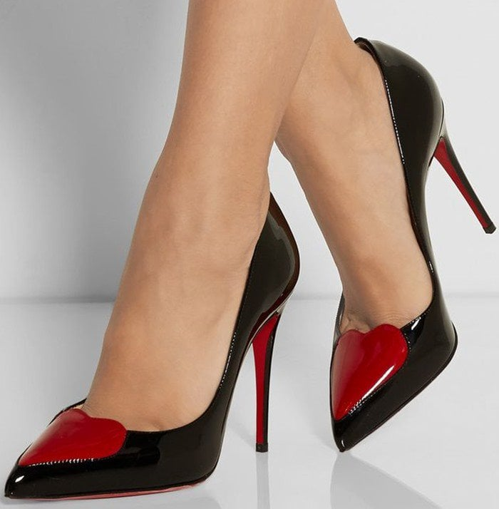Christian Louboutin Cora Patent Heart Red Sole Pump
