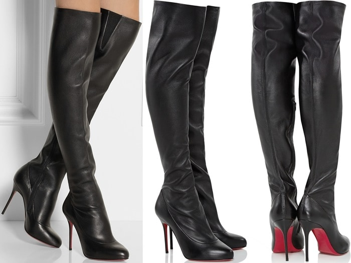 Christian Louboutin Sempre Monica 100 leather over-the-knee boots