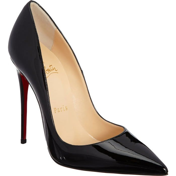 Christian Louboutin So Kate Patent Pumps in Black