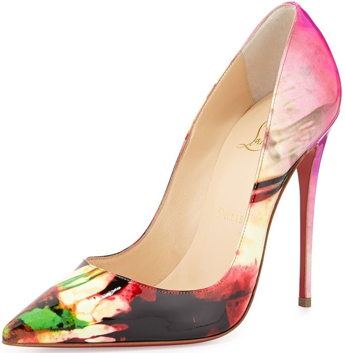 Christian Louboutin So Kate Tie-Dye Patent Red Sole Pump