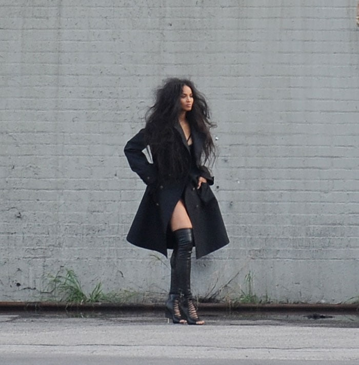 Ciara ata Voguephoto shoot in downtown Los Angeles on December 18, 2014