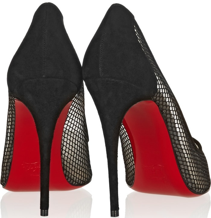 Follies Resille 100 Suede-Trimmed Mesh Pumps
