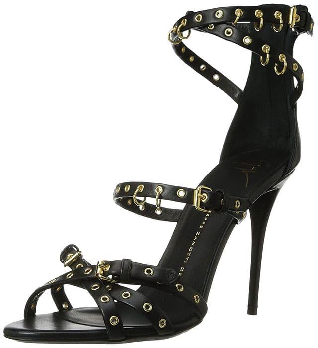 Giuseppe Zanotti Eyelet-Studded Belted Sandals