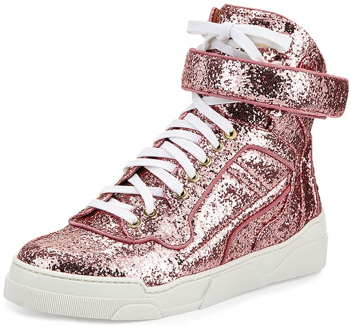 Givenchy Glitter High-Top Sneakers