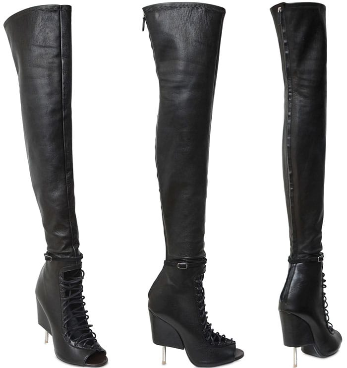 Givenchy-Nunka-Stretch-Thigh-High-Lace-up-Boots-1