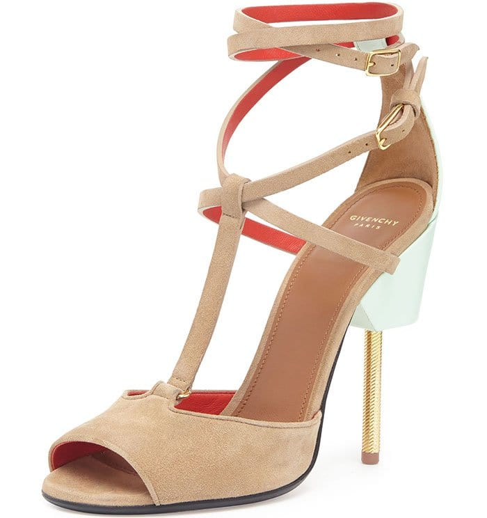 Givenchy Suede Crisscross Runway Sandals
