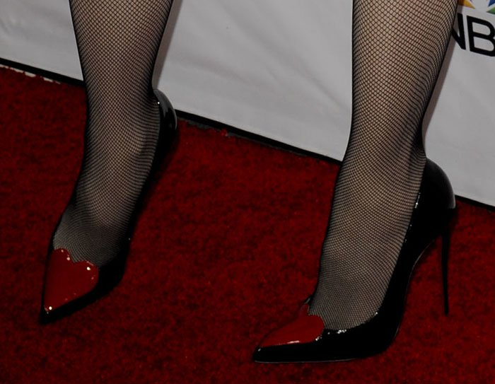 Gwen Stefani wearing Christian Louboutin pumps