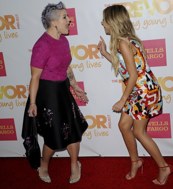 Kelly Osbourne and Sarah Hyland at the 2014 TrevorLIVE LA held at Hollywood Palladium in Los Angeles on December 7, 2014