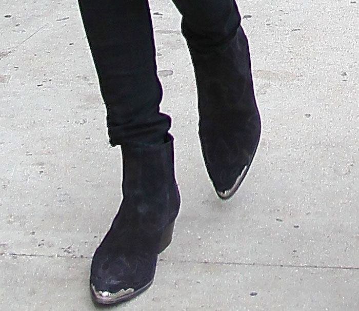 Kendall Jenner's Western-style boots