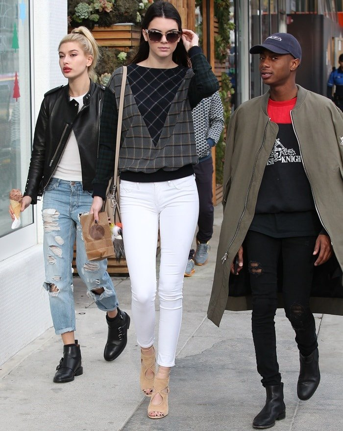 Kendall Jenner and Hailey Baldwin visit Sprinkles Cupcakes