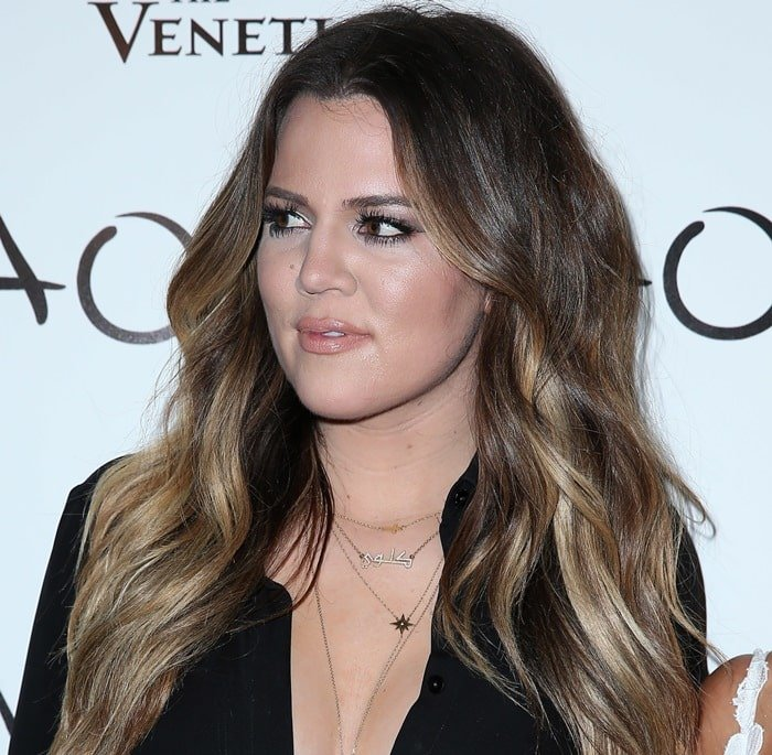 Khloe shows off her necklaces and jewelry