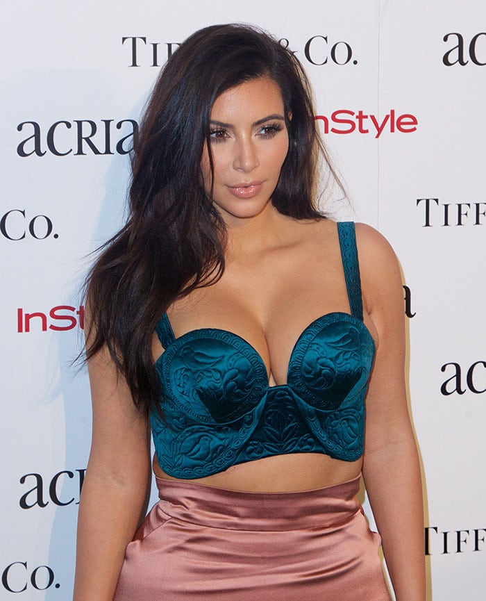 Kim Kardashian at the 2014 ACRIA Holiday Dinner at Skylight Modern in New York City on December 10, 2014
