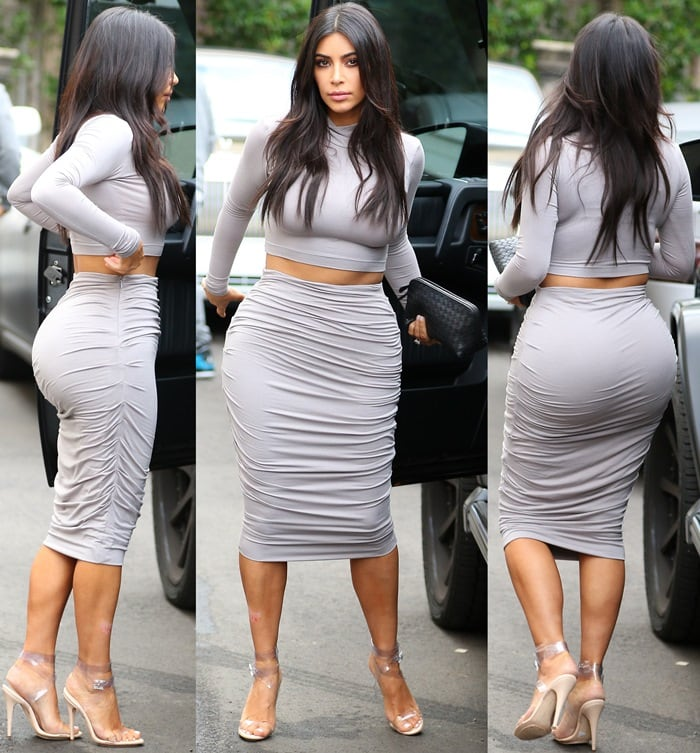 Kim Kardashian's Booty Looks Rounder Than Ever in Ugly ...