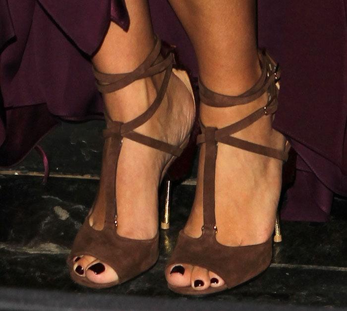 "Kim Kardashian's feet in ""Marzia"" sandals"