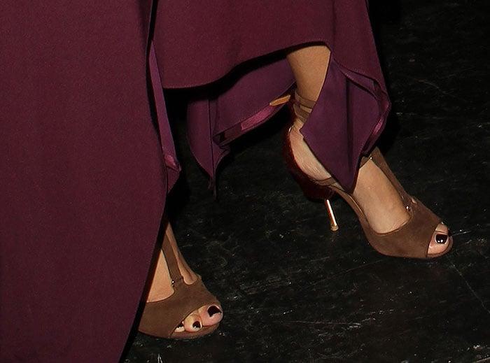 Kim Kardashian's feet in Givenchy sandals