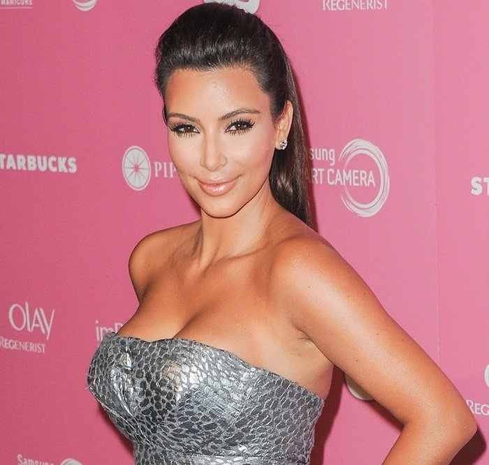 Kim Kardashian at the 2012 US Hot Hollywood Party held at Greystone Manor in Los Angeles on April 18, 2012