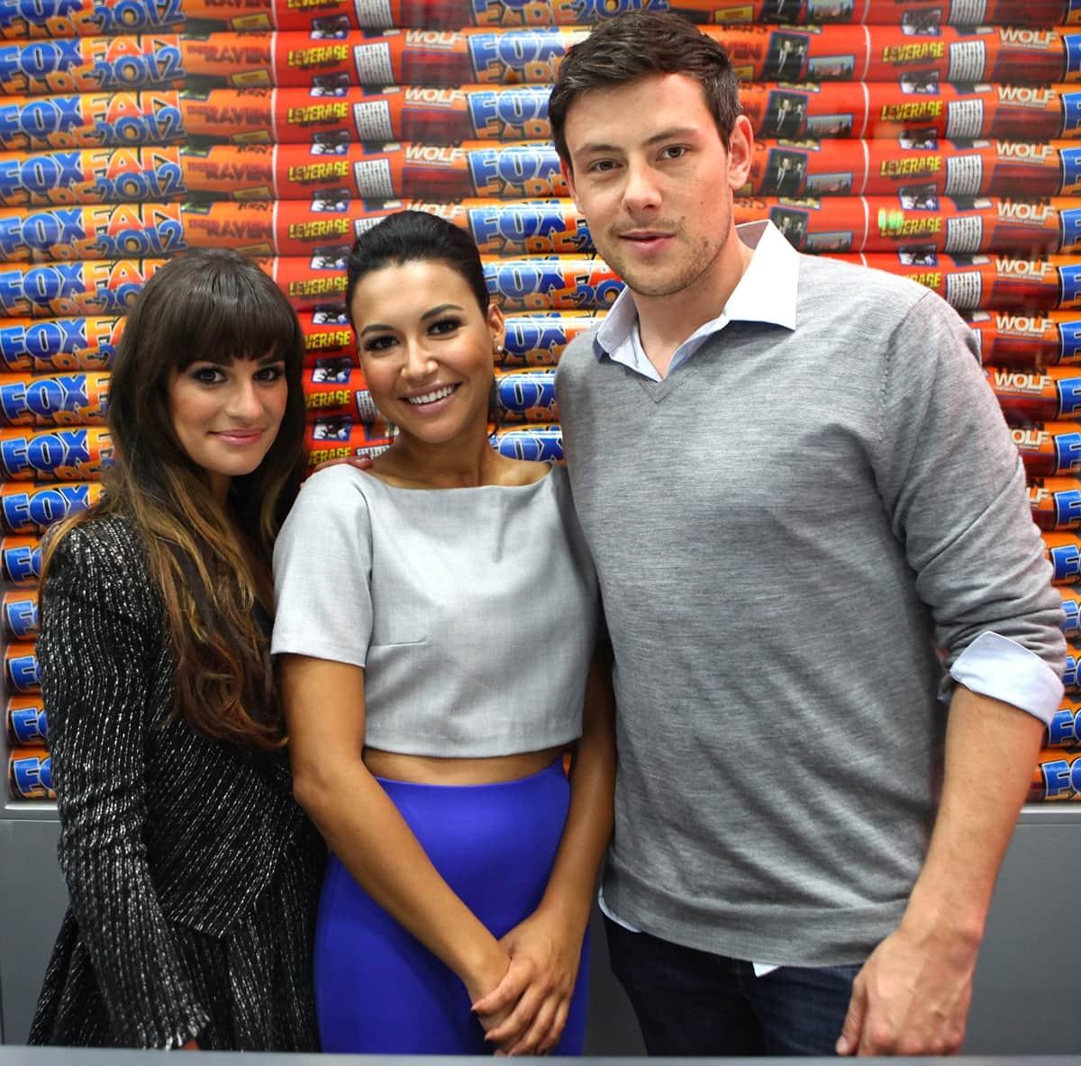 Lea Michele, Naya Rivera, Cory Monteith attend San Diego Comic-Con 2012