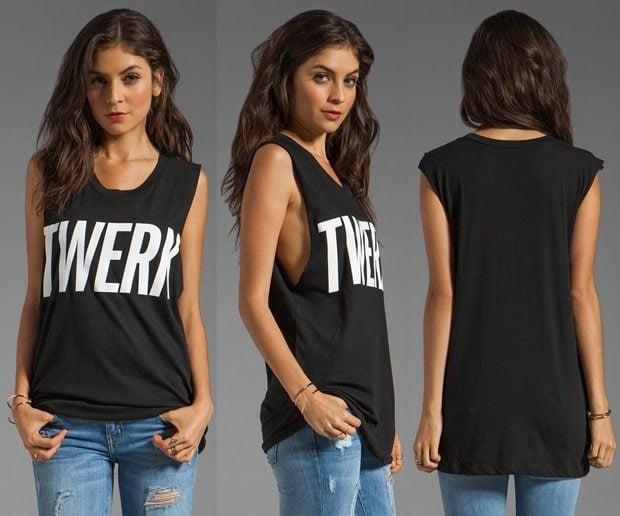 Lovers + Friends for Revolve Twerk Tank in Black