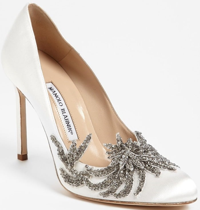 "Manolo Blahnik ""Swan"" Pumps"