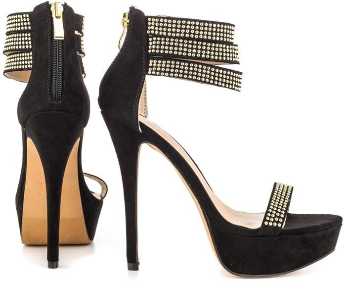Mena Micro-Stud-Detailed Heels
