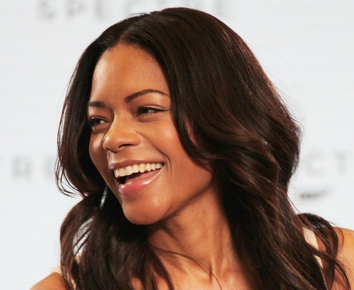 Naomie Harris at the Bond 24 press conference and photo call