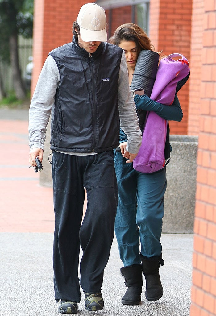 Nikki Reed and Ian Somerhalder going to and leaving a yoga class in Studio City, Los Angeles, on December 30, 2014