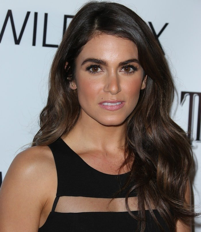 Nikki Reed donned a racy little black dress by Parker