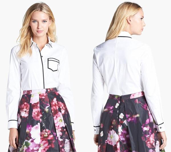 Pink-Tartan-One-Pocket-Trompe-lOleil-Shirt