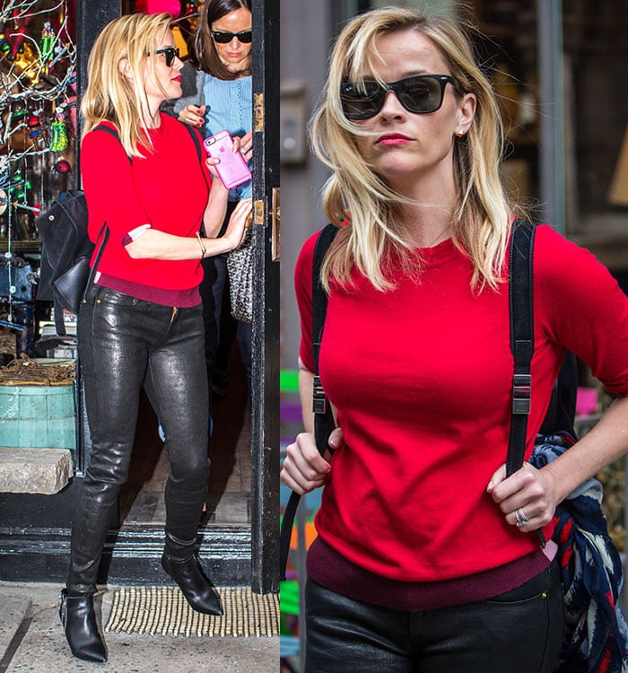Reese Witherspoon wore her side-parted blond locks down