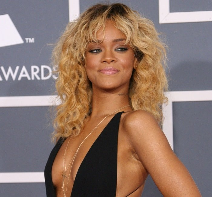 Rihanna at the 54th Annual Grammy Awards (The Grammys) held at the Staples Center in Los Angeles on February 12, 2012