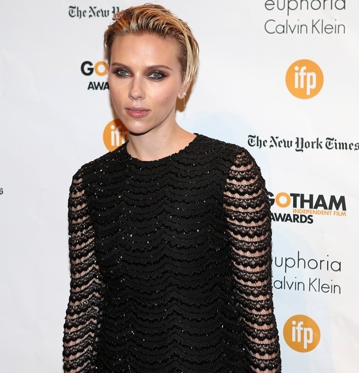 Scarlett Johansson at the 2014 Gotham Independent Film Awards held at Cipriani Wall Street in New York City on December 1, 2014