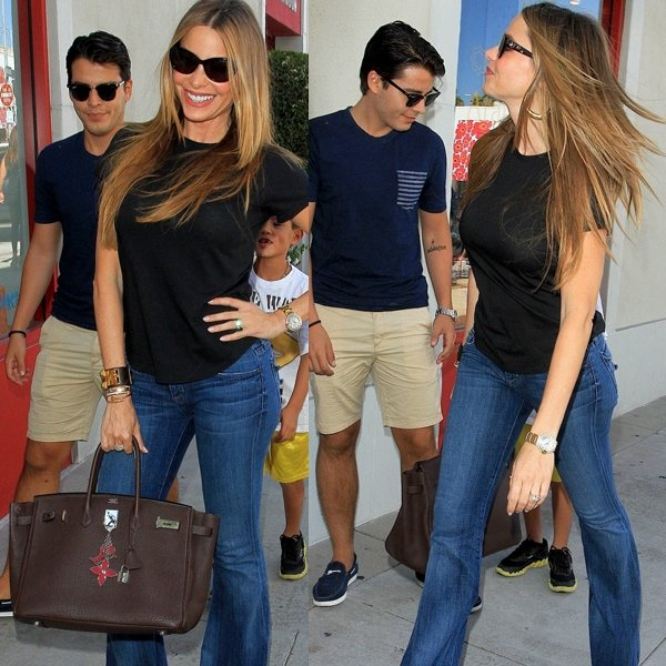 Sofia photographed with 20-year-old son Manolo Gonzalez-Ripoll Vergara