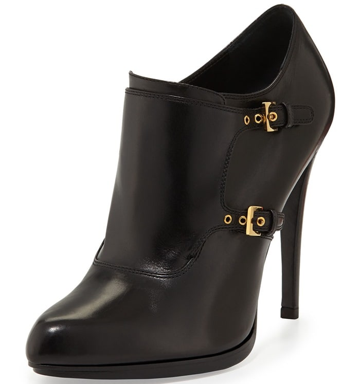 Tom Ford Double-Monk Ankle Booties