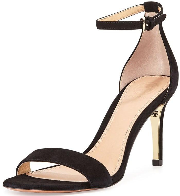 Tory Burch Black Keri Suede Ankle-strap Sandal