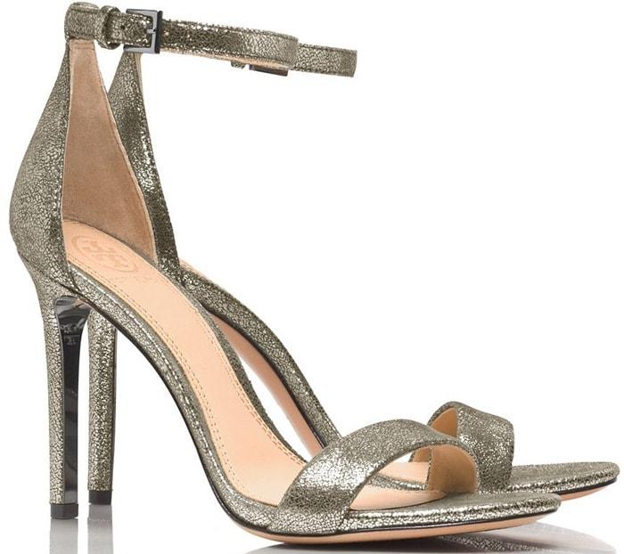 Tory Burch Silver Keri Metallic Sandal