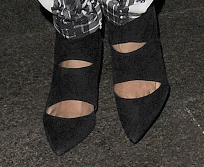 nicole scherzinger crop top shoe